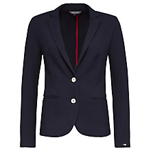 Buy Tommy Hilfiger Sally Pique Knit Blazer, Navy Blazer Online at johnlewis.com