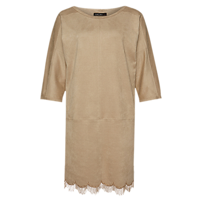 Marc Cain Faux Suede Dress, Cement