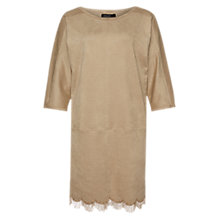Buy Marc Cain Faux Suede Dress, Cement Online at johnlewis.com