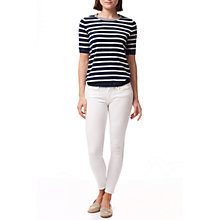 Buy Tommy Hilfiger Como Ankle Grazer Jeans, Classic White Online at johnlewis.com