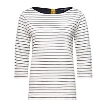 Buy Tommy Hilfiger Florence Stripe Top, Snow White/Medium Grey Heather Online at johnlewis.com
