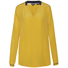 Buy Tommy Hilfiger Keila Silk Blouse, Sundown Yellow/Navy Blazer Online at johnlewis.com