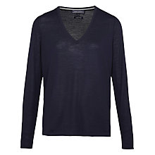 Buy Tommy Hilfiger Guvera V-Neck Wool Jumper, Nightsky Online at johnlewis.com