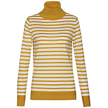 Buy Tommy Hilfiger New Havera Roll Neck Stripe Jumper, Yellow Online at johnlewis.com