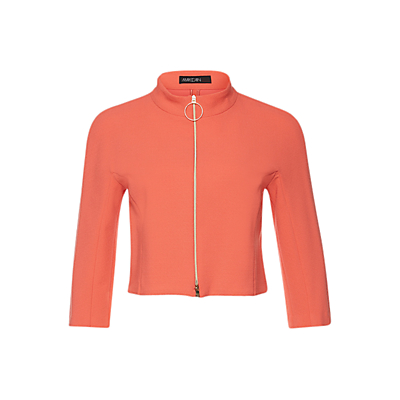Marc Cain Cropped Zip-Up Jacket, Grenadine