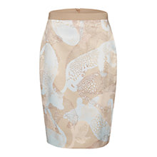 Buy Marc Cain Animal Print Satin Skirt, Taupe/Blue Online at johnlewis.com
