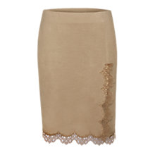 Buy Marc Cain Faux Suede Skirt, Cement Online at johnlewis.com