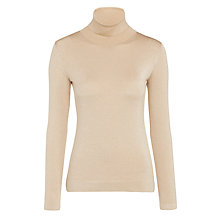 Buy Marc Cain Long Sleeve Roll Neck Jumper, Gold Online at johnlewis.com