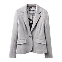 Buy Joules Olivia Jersey Blazer, Grey Dogstooth Online at johnlewis.com