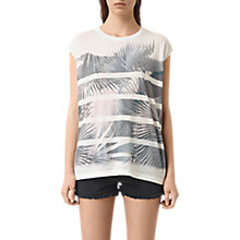 Buy AllSaints Java Brooke Top, Chalk White Online at johnlewis.com