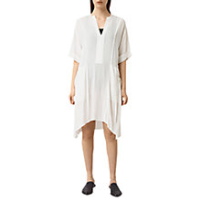 Buy AllSaints Flo Dress, Chalk White Online at johnlewis.com