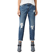 Buy AllSaints Amy Girlfriend Jeans, Mid Blue Online at johnlewis.com