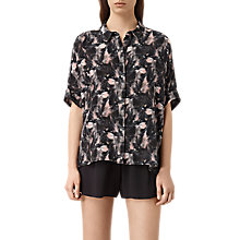 Buy AllSaints Dune Island Silk Shirt, Multi Online at johnlewis.com