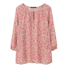 Buy Violeta by Mango Flowy Print Blouse, Medium Pink Online at johnlewis.com