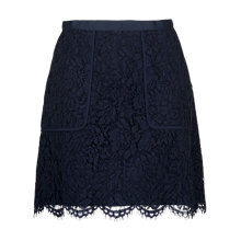 Buy Whistles A-Line Lace Pocket Skirt, Navy Online at johnlewis.com
