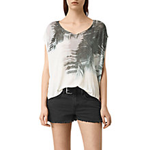 Buy AllSaints Guinea Mist Tee, Chalk White Online at johnlewis.com
