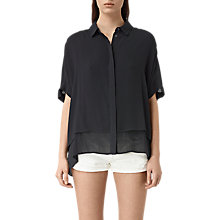 Buy AllSaints Wilder Shirt, Black Online at johnlewis.com