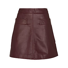 Buy Whistles Rita Leather Skirt Online at johnlewis.com