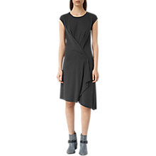 Buy AllSaints Breeze Devo Dress, Coal Black Online at johnlewis.com
