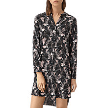 Buy AllSaints Cette Island Dress, Dark Pink Online at johnlewis.com
