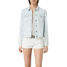 Buy AllSaints Kleo Denim Jacket, Light Indigo Blue Online at johnlewis.com