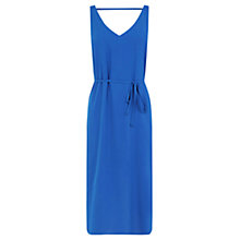 Buy Oasis V Front Midi Dress, Mid Blue Online at johnlewis.com