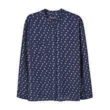 Buy Violeta by Mango Animal Print Blouse, Navy Online at johnlewis.com