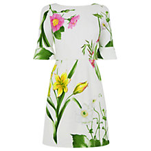 Buy Oasis Chelsea Physic Bell Sleeve Shift Dress, Multi/Natural Online at johnlewis.com