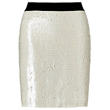Buy Modern Rarity Sequin Mini Skirt, White Online at johnlewis.com