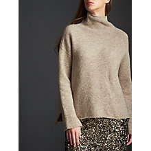 Buy Modern Rarity Roll Neck Jumper, Oatmeal Online at johnlewis.com