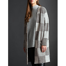 Buy Modern Rarity Mohair Check Cardigan, Grey Online at johnlewis.com
