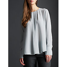 Buy Modern Rarity Pleat Neck Blouse, Pearl Blue Online at johnlewis.com