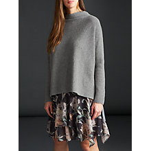Buy Modern Rarity Cashmere Funnel Neck Jumper, Grey Online at johnlewis.com