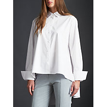 Buy Modern Rarity palmer//harding Cape Back Shirt, White Online at johnlewis.com