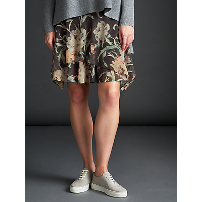 Modern Rarity Archive Print Drape Skirt, Charcoal