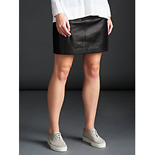 Buy Modern Rarity Leather Mini Skirt, Black Online at johnlewis.com