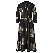 Buy Bruce by Bruce Oldfield Floral Jacquard Tie Dress, Black Online at johnlewis.com