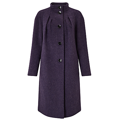 Bruce by Bruce Oldfield Drawn Wool Coat, Aubergine