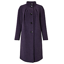 Buy Bruce by Bruce Oldfield Drawn Wool Coat, Aubergine Online at johnlewis.com