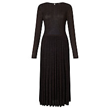Buy Bruce by Bruce Oldfield Pleated Knit Dress, Bronze Online at johnlewis.com