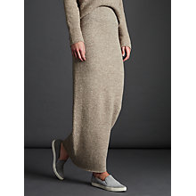 Buy Modern Rarity Long Knitted Waist Skirt, Oatmeal Online at johnlewis.com