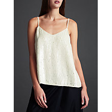 Buy Modern Rarity Sequin Cami, White Online at johnlewis.com