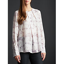 Buy Modern Rarity Pleat Neck Blouse, Marble Online at johnlewis.com