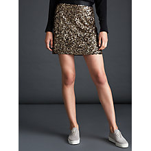 Buy Modern Rarity Sequin Mini Skirt, Pale Gold Online at johnlewis.com