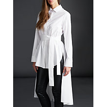 Buy Modern Rarity palmer//harding Belted Long Shirt, White Online at johnlewis.com