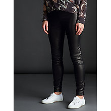 Buy Modern Rarity Ponte Leather Trousers, Black Online at johnlewis.com