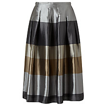 Buy Bruce by Bruce Oldfield Jacquard Stripe Skirt, Black/Multi Online at johnlewis.com