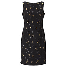 Buy Bruce by Bruce Oldfield Spot Jacquard Dress, Black/Gold Online at johnlewis.com