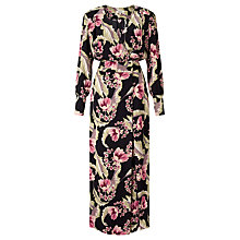Buy Somerset by Alice Temperley Dahlia Floral Print Jumpsuit, Black/Multi Online at johnlewis.com