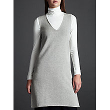 Buy Modern Rarity Knit V Shift Dress, Grey Online at johnlewis.com